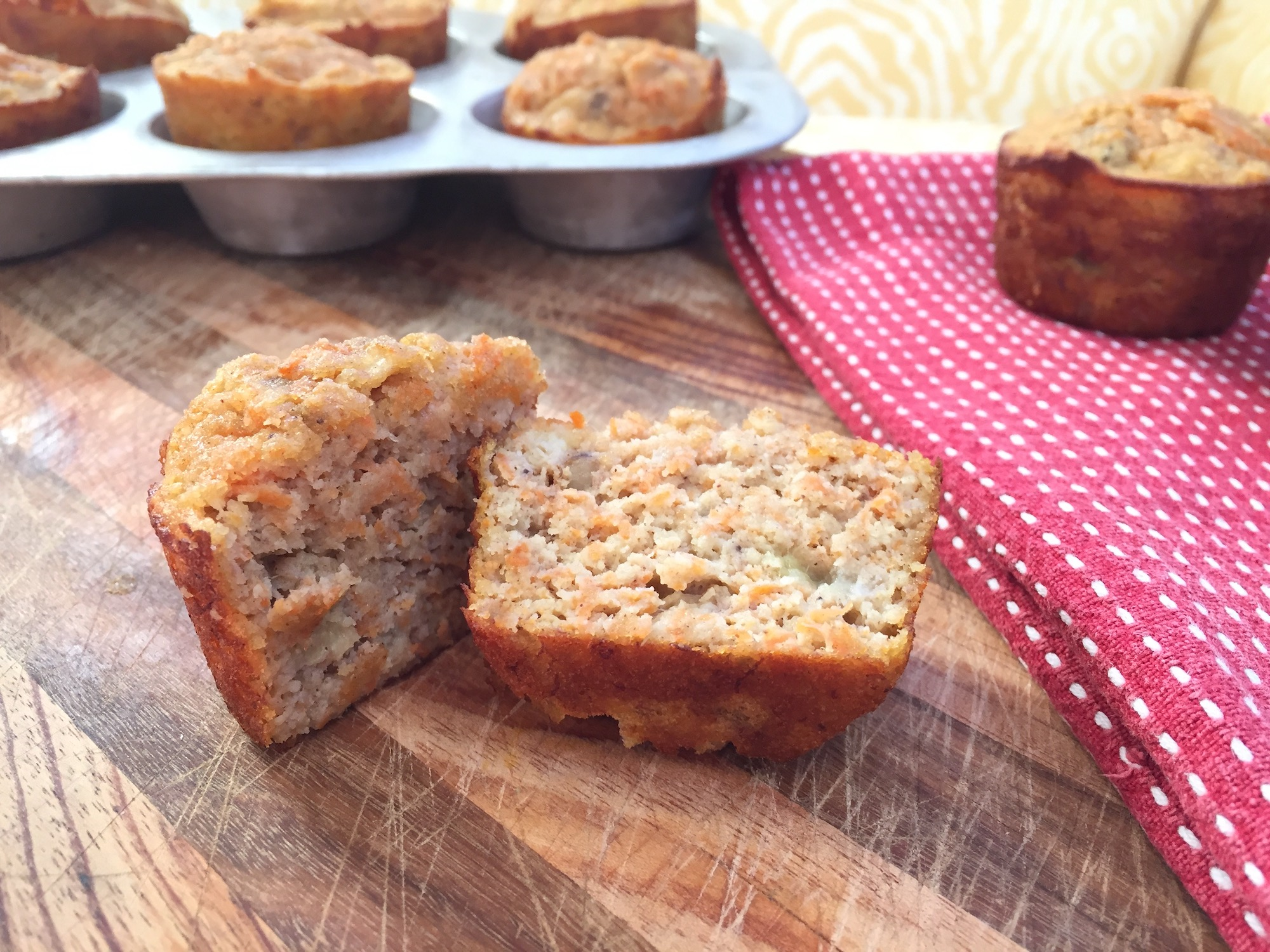 Paleo Banana Carrot Breakfast Muffins