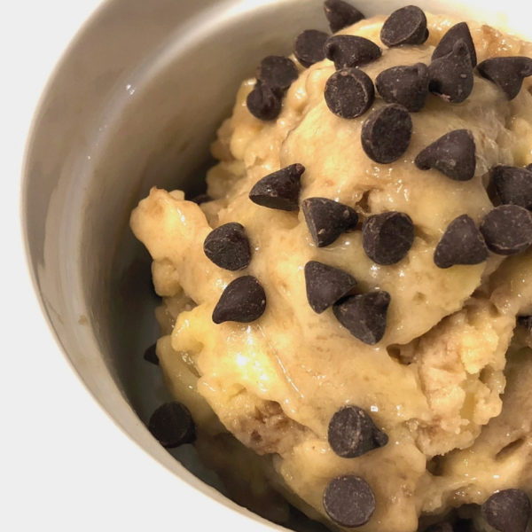 Chocolate Chip Banana Ice Cream in a cup