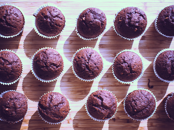 Sweet Beet and Chocolate Chip Muffins