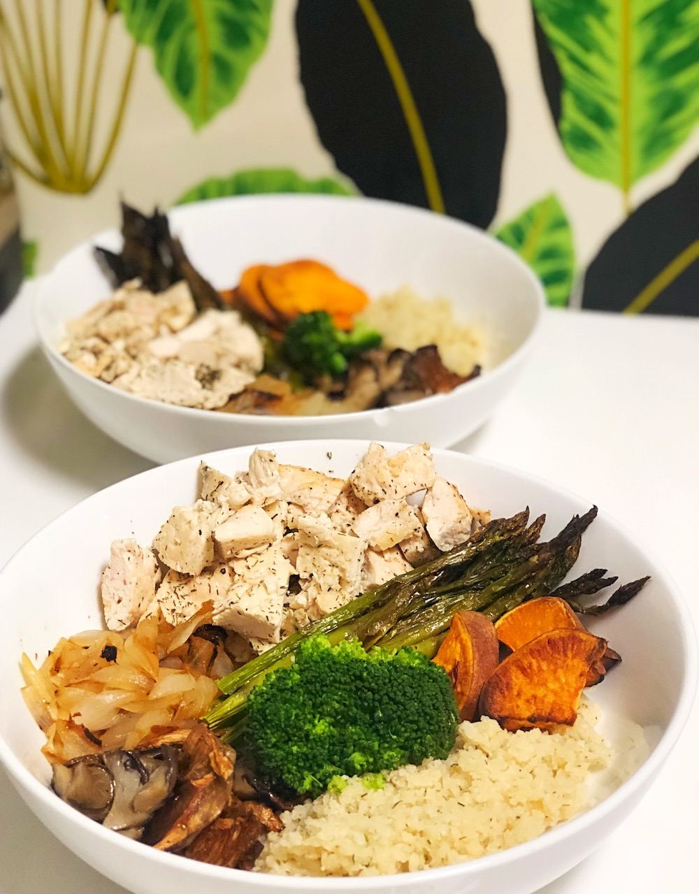 Cauliflower Veggie Bowls with Chicken