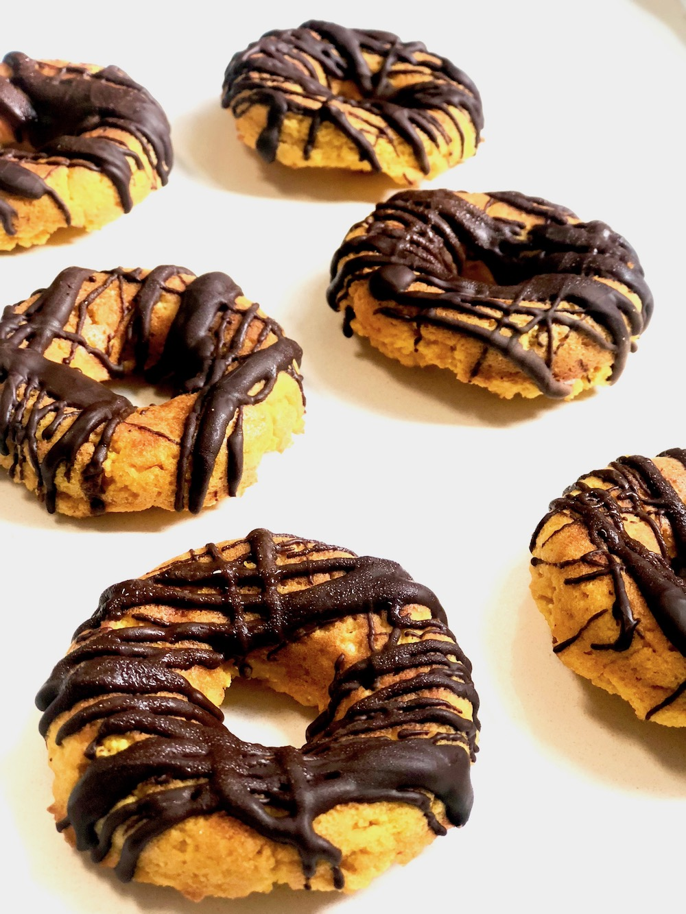 Chocolate Drizzled Pumpkin Donuts