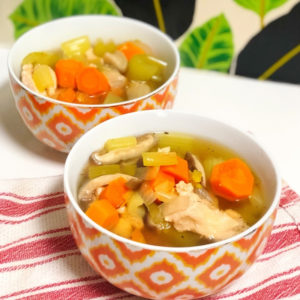 Chicken Vegetable Soup in bowls