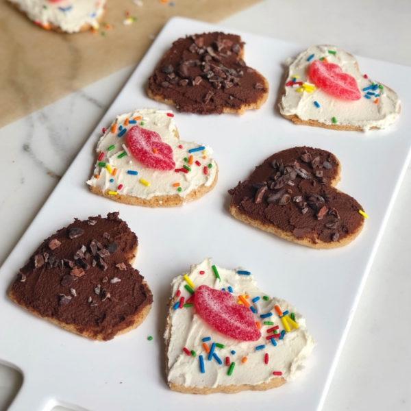 Paleo Almond Flour Sugar Cookies on a board