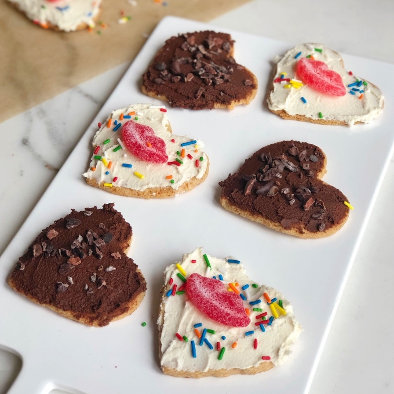 Paleo Almond Flour Sugar Cookies on a board
