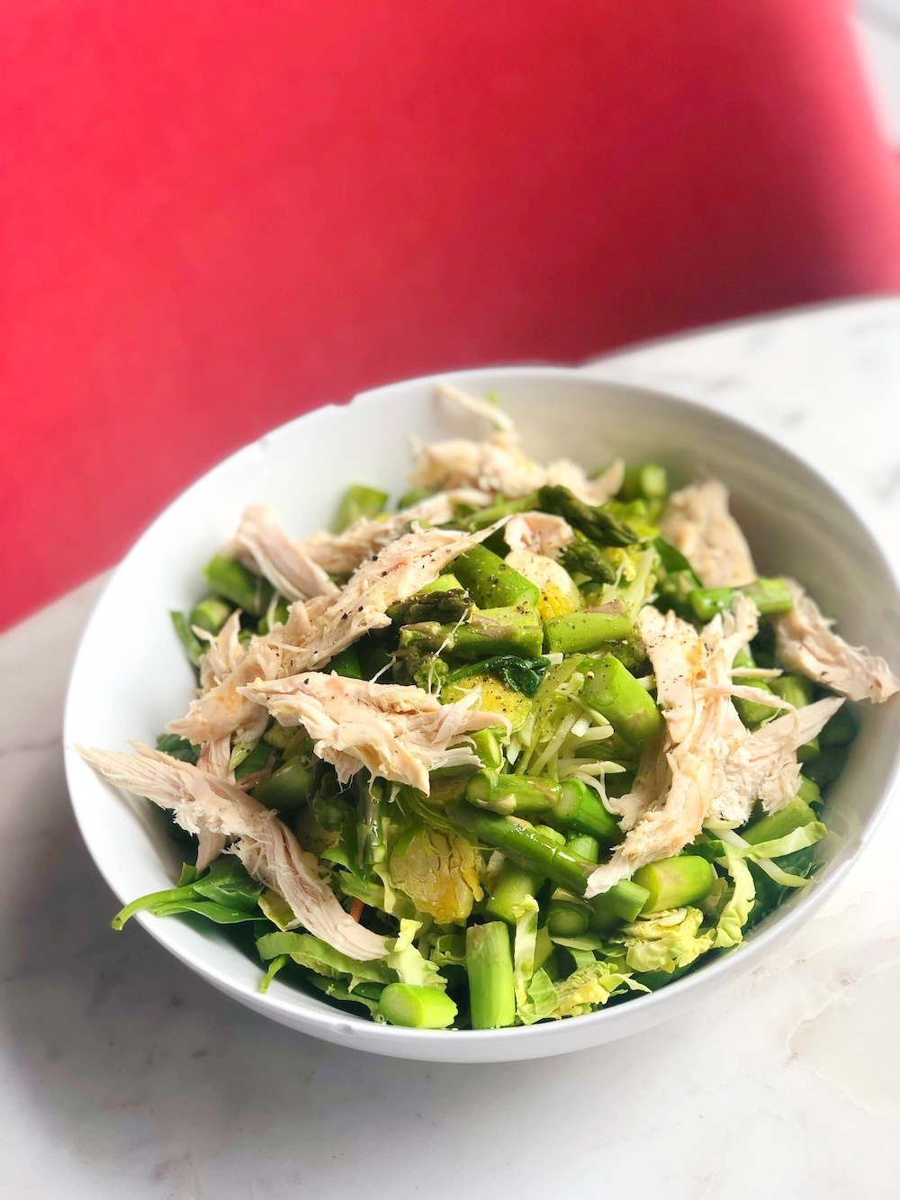 Simple Spring Asparagus and Chicken Salad