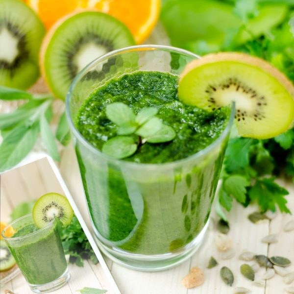Springy Green Smoothies in a cup