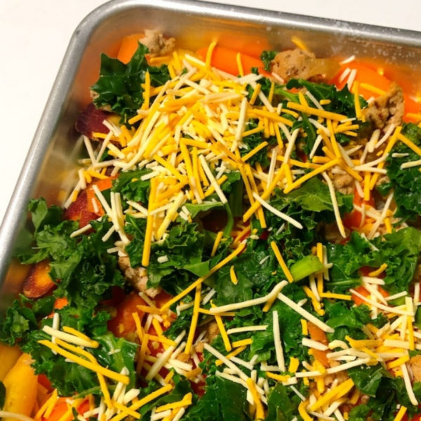 Veggie and Kale covered in cheese