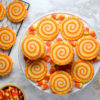 Swirly cookies and candy cane