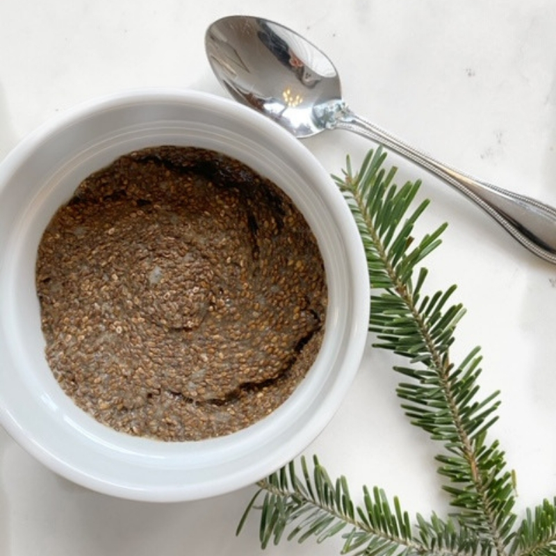 Gingerbread Chia Seed Pudding