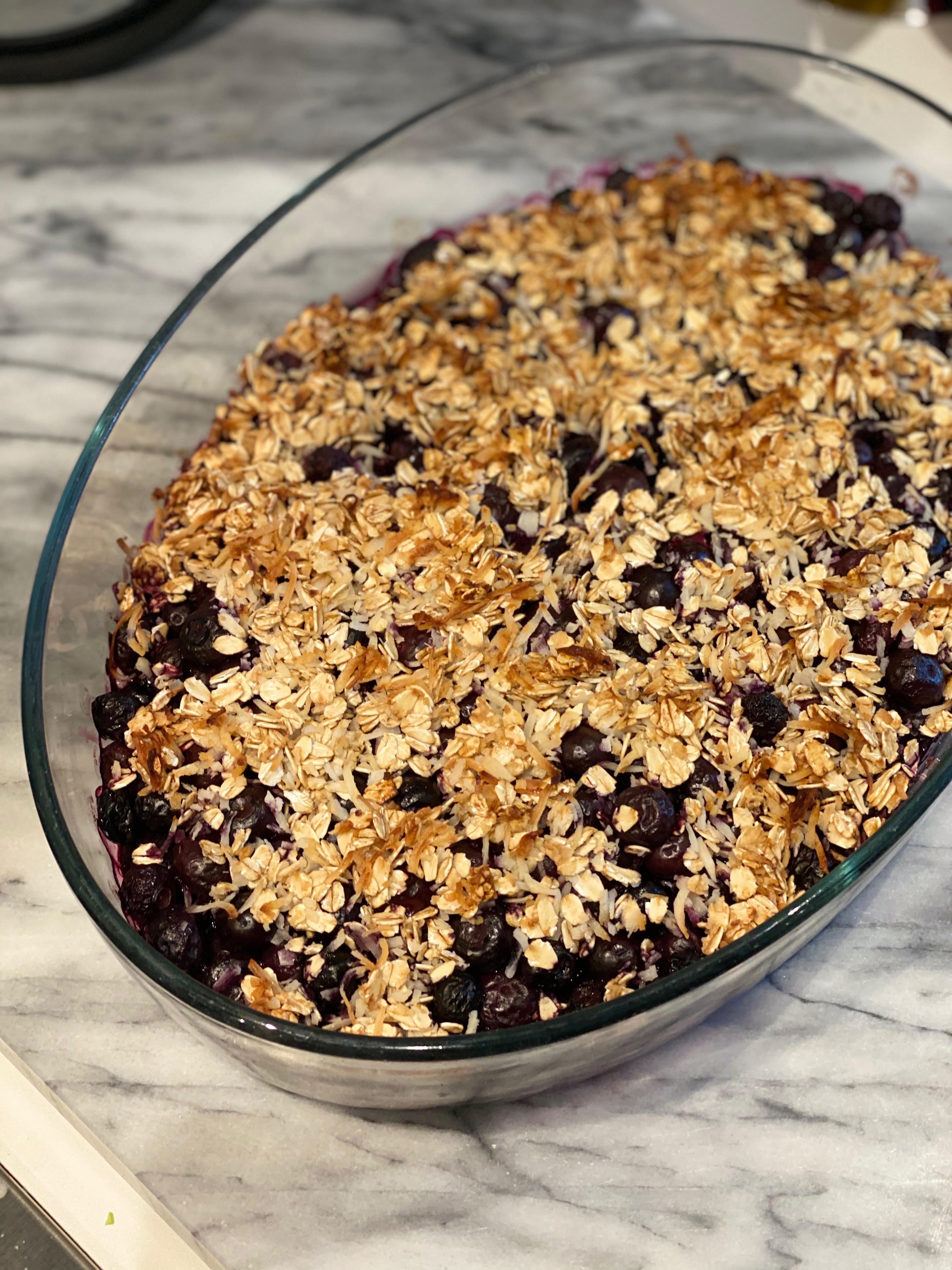 30 Minute Blueberry Crumble